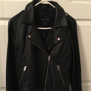 NWT Lucky Brand Real Leather Moto Jacket